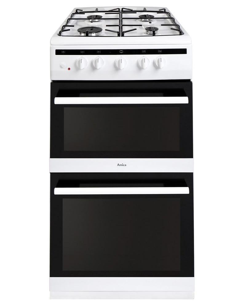 amica 508tgg2w twin cavity gas cooker. Black Bedroom Furniture Sets. Home Design Ideas