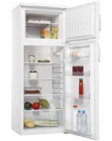 Amica-FD2253-Freezer-over-Fridge