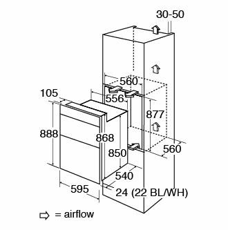 DC940SS Oven Fitting Diagram