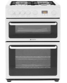 Hotpoint-HAG60P-double-gas-cooker