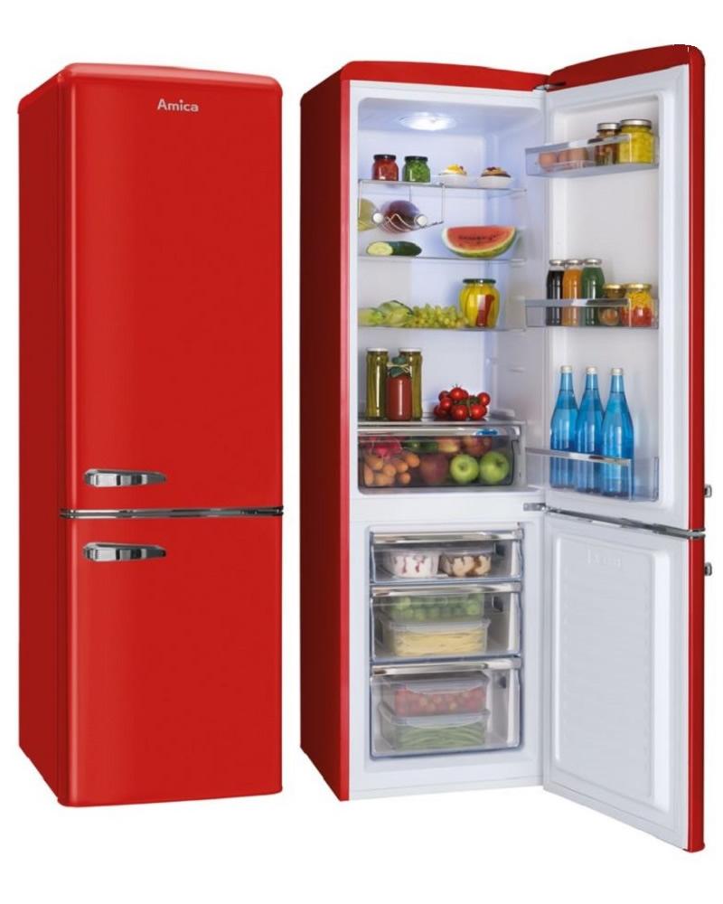 amica fkr29653r red fridge freezer. Black Bedroom Furniture Sets. Home Design Ideas