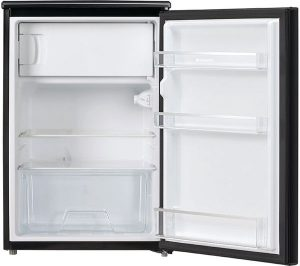 Black Fridge with ice box door open