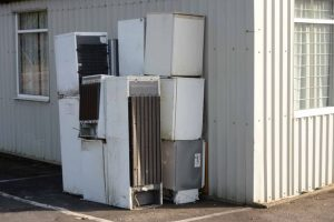 Fridges dumped behind a church in Coventry