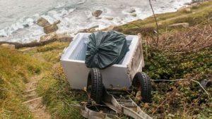 Fridge dumped over Doset cliff