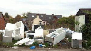 Dumped fridges on a Sheffield Street